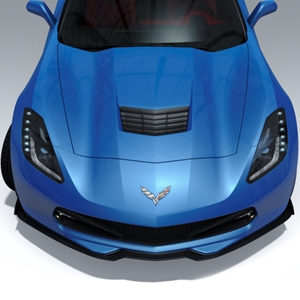 2014, 2015, 2016, 2017, C7 Corvette Stingray, Z51 - ACS Five 1 Front Splitter w/Winglet