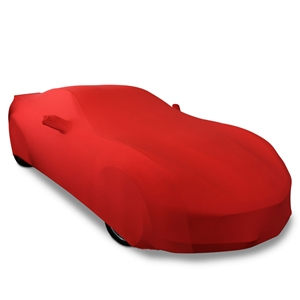 C7 Corvette Stingray, Z51, Z06, Grand Sport, ZR1 Ultraguard Stretch Satin Car Cover - Red - Indoor