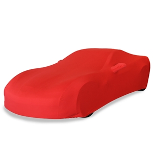 Corvette Ultraguard Stretch Satin Car Cover- Red - Indoor :  2005-2013 C6, Z06, ZR1, Grand Sport