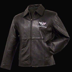 Corvette Jacket - Womens Lambskin Princess Cut Embroidered C5 Jacket