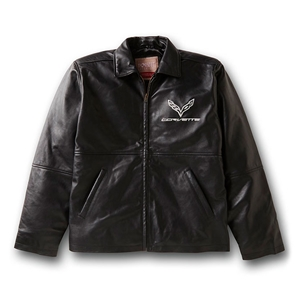 Corvette - Lambskin Fashion Jacket with C7 Emblem : 2014