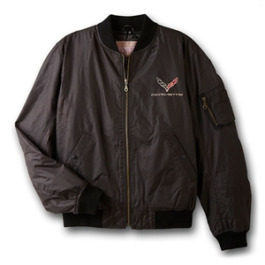 Corvette Jacket - Aviator Jacket with C7 Emblem : 2014