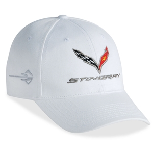 C7 Corvette Stingray - Chino Cap Embroidered : White