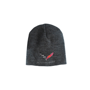 C7 Corvette Stingray Knit Pullover Beanie : Charcoal 2014 2015