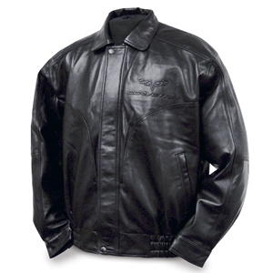 Corvette Jacket - Leather with C6 Emblem : 2005-2013