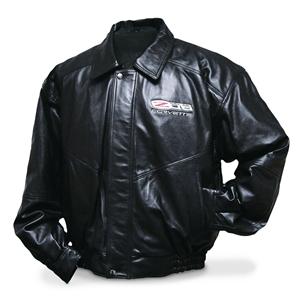 Corvette Jacket - Lamb Jacket Embroidered with Z06 505HP Emblem : 2006-2013