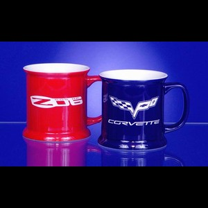 Corvette Coffee Mug - VIP Ceramic Mug w/C6 Logo