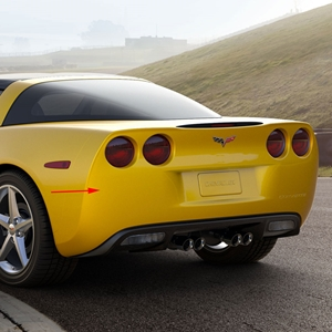 Corvette Rear Bumper Fascia, Coupe or Convertible : 2005-2013 C6