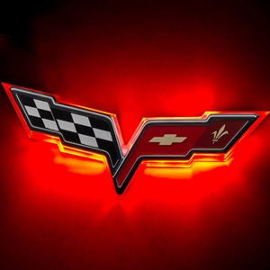 Corvette Illuminated LED Rear Emblem  - ORACLE™ : 2005-2013 C6, Z06, ZR1, Grand Sport