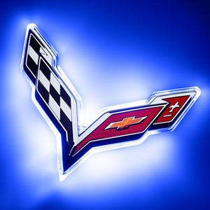 2014, 2015, 2016, 2017, Corvette Illuminated LED Rear Emblem  - ORACLE™ : C7 Stingray, Z51, Z06