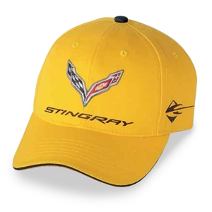 C7 Corvette Stingray Car Color Matching Hat/Cap - Embroidered : Velocity Yellow