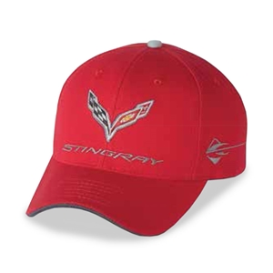 C7 Corvette Stingray Car Color Matching Hat/Cap - Embroidered : Torch Red