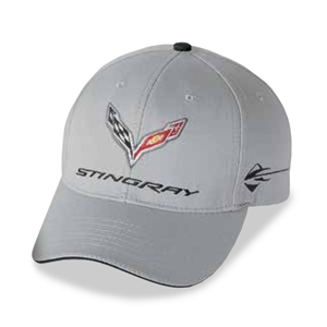C7 Corvette Stingray Car Color Matching Hat/Cap - Embroidered : Cyber Grey