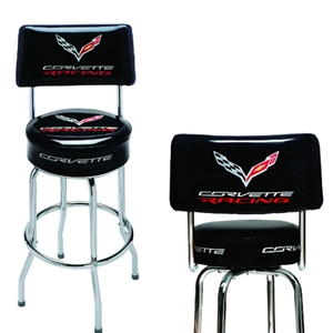 2014, 2015, 2016+ C7 Corvette Racing Counter/Pub Stool w/Back