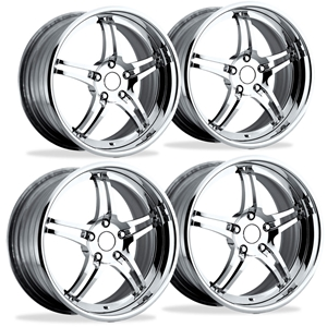 "Corvette Custom Wheels - WCC 946 EXT Forged ""Smooth"" Series (Set) : Chrome"