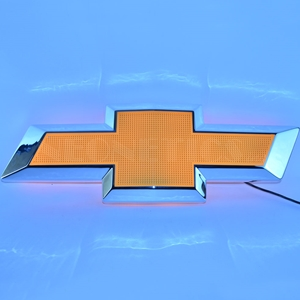 Corvette - Bowtie Shaped - Backlit Neon Sign : Large 31 Inch Across