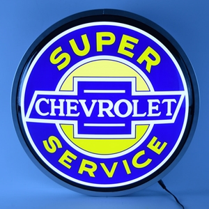 Corvette - Super Chevrolet Service - Backlit Neon Sign : 15 Inch