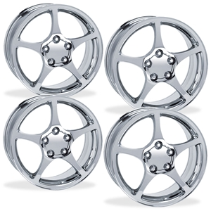 Corvette Wheels - 2000-04 Z06 Style Reproduction (Set) : Chrome