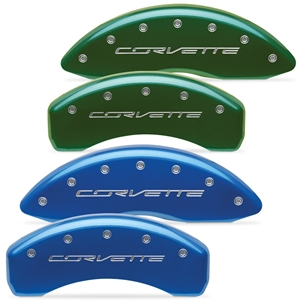 "2014, 2015, 2016, 2017, Corvette Brake Caliper Covers - Body Color w/Silver ""CORVETTE"" Script : C7 Stingray, Z51"