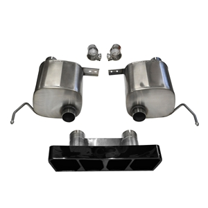 2014, 2015, 2016, 2017, C7 Corvette Stingray Exhaust - CORSA Xtreme Valve-Back Performance Exhaust System : Black Poly Tip
