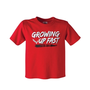 2014, 2015, 2016, 2017, C7 Corvette Stingray Growing Up Fast - Youth Tee : Red