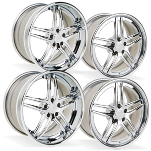 2015, 2016, 2017, Corvette WCC-1008 Forged 3-Piece Wheels - Chrome : C7 Z06