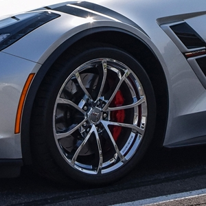 2017, 2018, C7 Corvette Grand Sport Centennial GM Wheel Exchange (Set) : Chrome 19x10/20x12