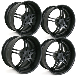 Corvette Custom Wheels - WCC 946 EXT Forged Series (Set) : Flat Black