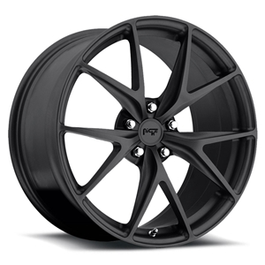 C5, C6 & C7 Corvette Custom Wheels - Niche Misano - Satin Black Finish, 18, 19 & 20 inch wheels available.