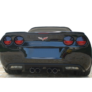 2005-2013 C6, Z06, ZR1, Grand Sport, Corvette Molded Acrylic  Rear Taillight Eyelid Blackout Kit