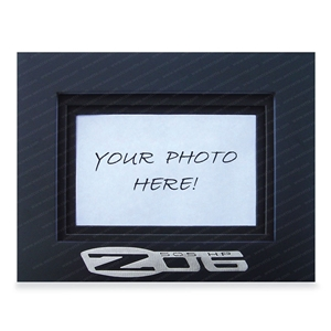 2006-2013 C6 Z06 Corvette Photo Frame w/Brushed Stainless Steel Emblem