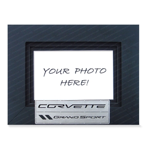 2010-2013 C6 Grand Sport Corvette Photo Frame w/Brushed Stainless Steel Emblem