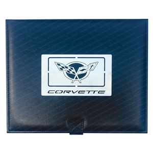 1997-2004 C5 Corvette Jewelry Box w/Brushed Stainless Steel Emblem