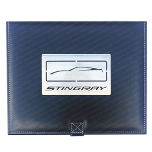 2014, 2015, 2016, 2017 C7 Corvette Stingray Jewelry Box w/Brushed Stainless Steel Emblem