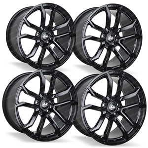 Corvette Wheels - LG Motorsports GR7 (Set) : Gloss Black