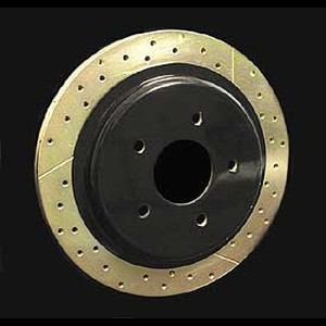 Corvette Brake Rotor Hub Covers Black : 97-04 C5,Z06