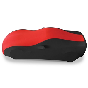 2005-2013 C6, Z06, ZR1, Grand Sport Corvette Ultraguard Stretch Satin Sport Car Cover - Red/Black - Indoor