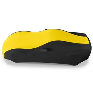 2005-2013 C6, Z06, ZR1, Grand Sport Corvette Ultraguard Stretch Satin Sport Car Cover - Yellow/Black - Indoor