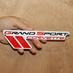 "Corvette Grand Sport Emblem Metal Magnet - 7"" x 2"" : 2010-2013 C6 Grand Sport"