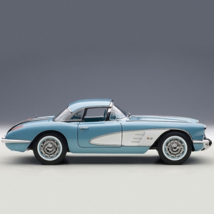1958 C1 Corvette Silver Blue - Die Cast 1:18