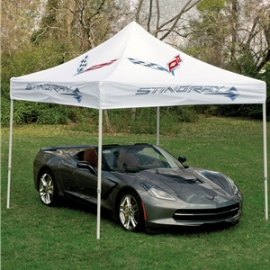 C7 Stingray, Z51 Corvette Canopy/Cover/Shelter Stingray with Crossed Flags