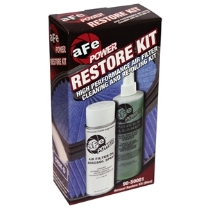 Air Filter Restore Kit - aFe : 6.5 oz Blue Oil & 12 oz Power Cleaner