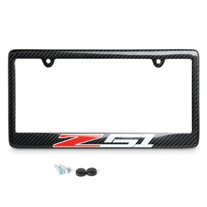 Corvette Z51 License Plate Frame - Carbon Fiber : 2005-2017 C6 / C7