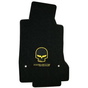 Corvette Lloyd Ultimat Floor Mats Set Jake Design C6 Late 2007-2013 Front (Hook Anchor)