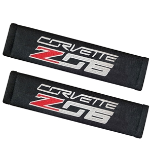 C7 Z06 Corvette  Seatbelt Harness Pads - Embroidered