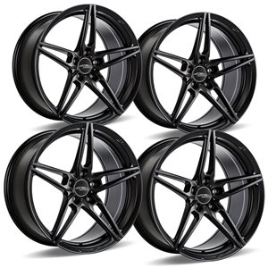 C7 Z06 Corvette ACE Flow Form AFF01 Wheels (Set) - Matte Black.