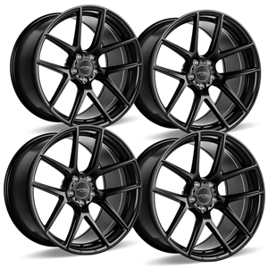 C7 Z06, Grand Sport, ZR1 Corvette ACE Flow Form AFF02 Wheels (Set) - Matte Black.