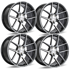 C7 Z06 Corvette ACE Flow Form AFF02 Wheels (Set) - Mica Grey with Machined Face.