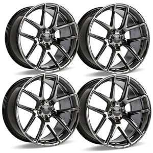 C7 Z06 Corvette ACE Flow Form AFF02 Wheels (Set) - Black Chrome.
