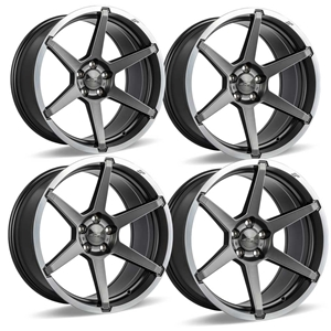 C7 Z06 Corvette ACE Flow Form AFF06 Wheels - Titanium Machined Lip